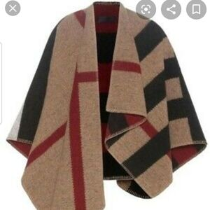 Burberry prorsum mega check cape